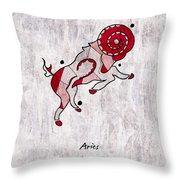 Aries Artwork Throw Pillow