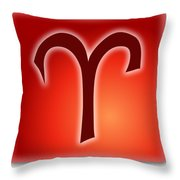 Aries  March 20 - April 19 Throw Pillow
