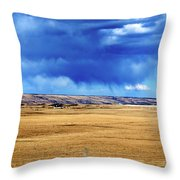 Arising Storm Over Calgary Throw Pillow