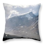 Arising Storm Over Glacier Throw Pillow