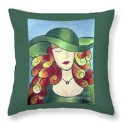 Aristocratic Lady Throw Pillow