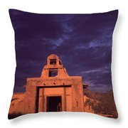 Arizona Adobe Mission Church 1939-2016 Throw Pillow