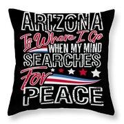 Arizona American Patriotic Memorial Day Throw Pillow
