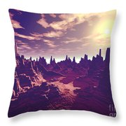Arizona Canyon Sunshine Throw Pillow