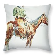 Arizona Cowboy, 1901 Throw Pillow