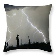 Arizona Desert Storm Throw Pillow