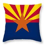 Arizona Flag Art Throw Pillow