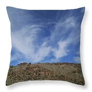 Arizona Foothill Sky Throw Pillow