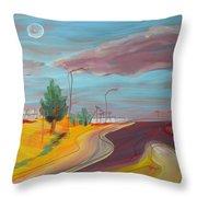 Arizona Highway 1 Throw Pillow