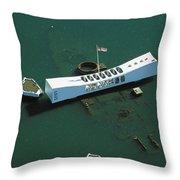 Arizona Memorial Aerial Throw Pillow
