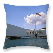 Arizona Memorial Throw Pillow