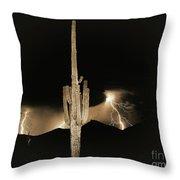 Arizona Monsoon, Sepia Throw Pillow
