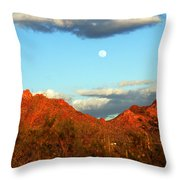 Arizona Moon Throw Pillow