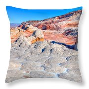 Arizona- Paria Plateau- White Pocket Throw Pillow