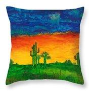 Arizona Rain Throw Pillow
