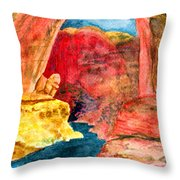 Arizona Rainbow Throw Pillow