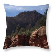 Arizona Red Rocks Throw Pillow