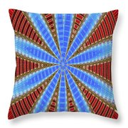 Arizona Saguaro Forest Abstract #2 Throw Pillow