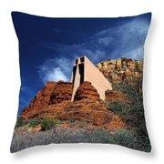Arizona, Sedona  Chapel Of The Holy Cross Throw Pillow