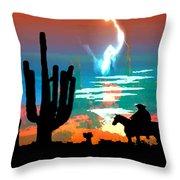 Arizona Skies Throw Pillow