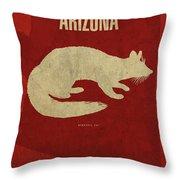 Arizona State Facts Minimalist Movie Poster Art Throw Pillow