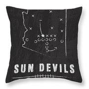 Arizona State Sun Devils / Ncaa College Football Art / Tempe Throw Pillow by Damon Gray