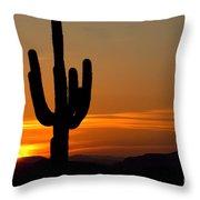 Arizona Sunset 3 Throw Pillow