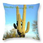 Arizona The Baby State Throw Pillow