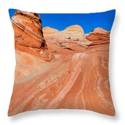 Arizona-utah- North Coyote Buttesthe Wave Throw Pillow