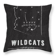 Arizona Wildcats / Ncaa College Football Art / Tucson Throw Pillow by Damon Gray