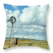 Arizona Windmill Throw Pillow