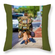 Arizonan In Asheville Throw Pillow