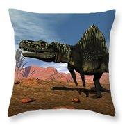 Arizonasaurus Dinosaur - 3d Render Throw Pillow
