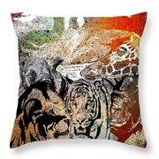 Ark Of Hope The Rainbow Throw Pillow by Mark Taylor