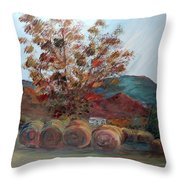 Arkansas Autumn Throw Pillow