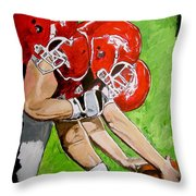 Arkansas Razorbacks Football Throw Pillow