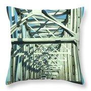 Arkansas Side Of Helena Bridge 1 Throw Pillow