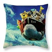 Arky  Noah's Ark Throw Pillow