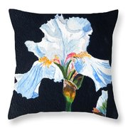 Arlene's Iris Throw Pillow
