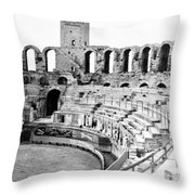 Arles Amphitheater A Roman Arena In Arles - France - C 1929 Throw Pillow