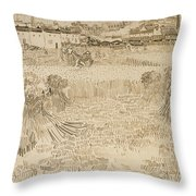 Arles View From The Wheatfields Throw Pillow