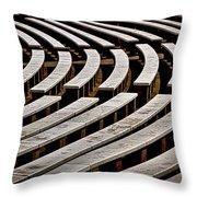 Arlington Cemetery Amphitheater Benches #2 Throw Pillow
