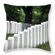 Arlington Cemetery Throw Pillow by John Greim