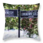 Arlington Cemetery Washington Dc Usa Throw Pillow