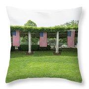 Arlington Flags Throw Pillow