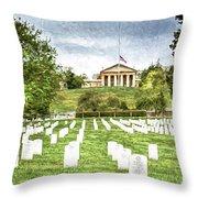 Arlington House Half Mast  Throw Pillow