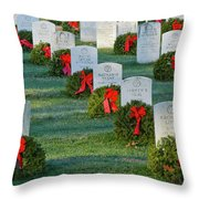 Arlington National Cemetery At Christmas Throw Pillow