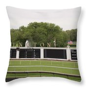 Arlington Park Race Track Throw Pillow