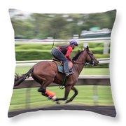 Arlington Park Racing - 5 Throw Pillow
