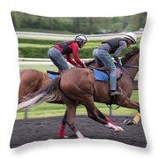 Arlington Park Racing - 7 Throw Pillow